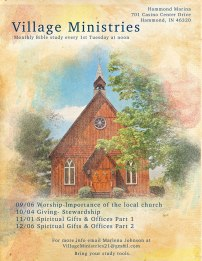Winter flyer for Village Ministries