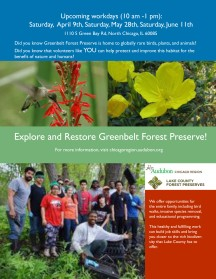 Flyer for Greenbelt Forest Preserve event