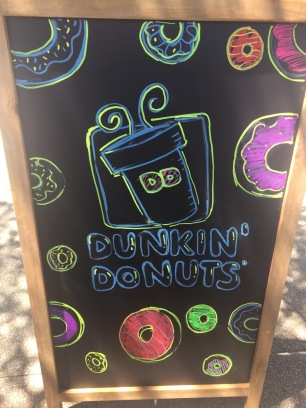 Back of Dunkin' Donuts Chalk Ad